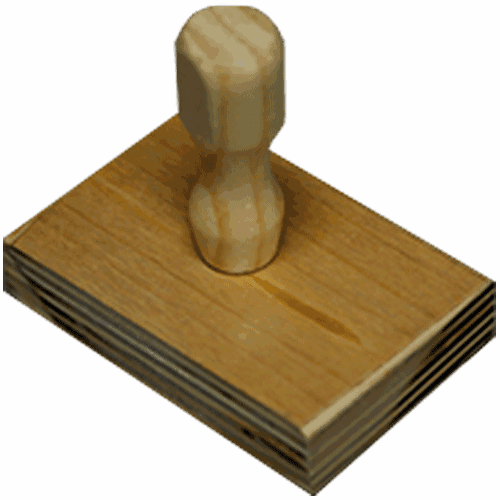 Sello de madera blanco