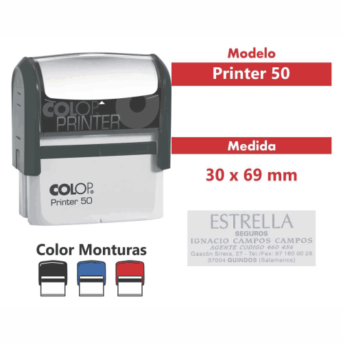 sello automático printer 50