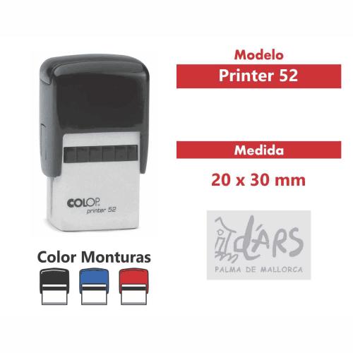 sello automático printer 52