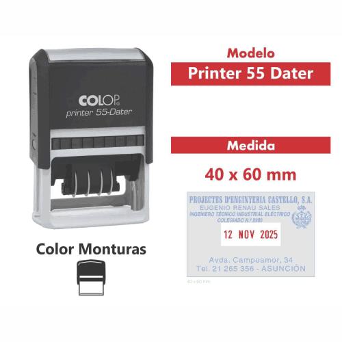sello automático printer 55 dater