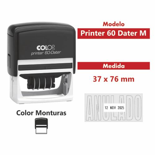 sello automático printer 60 dater M