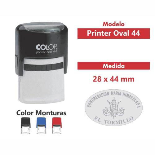 sello automático printer oval 44