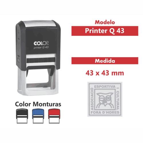 sello automático printer q 43
